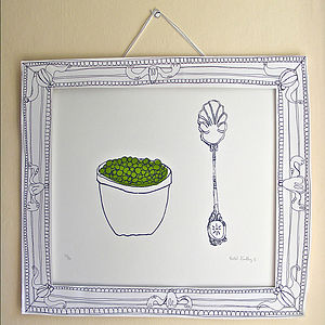 Peas Screen Print - posters & prints