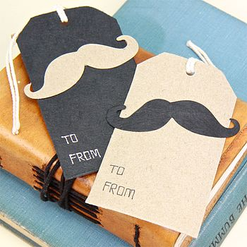 Moustache Gift Tag