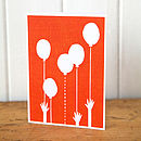 Party Balloons Card