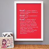 Personalised 'Friend' Dictionary Print - home