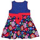 Cord Multiflower Bird Party Dress