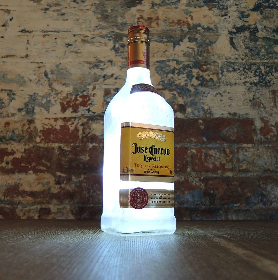 Upcycled Jose Cuervo Tequila Bottle Lamp By Upcycled