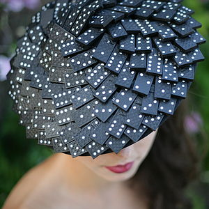 Domino Saucer Hat - hats & fascinators