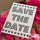 Personalised Mini Magnet Save The Date Card