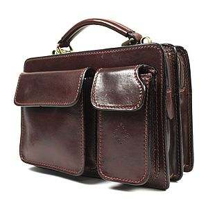 Italian Leather Beckenham Unisex Briefcase - laptop bags & cases