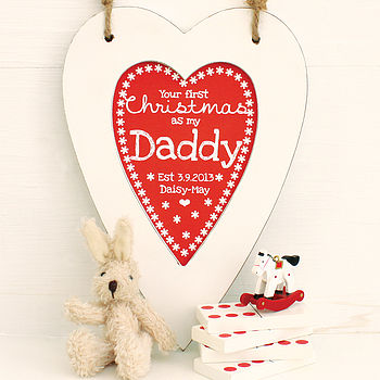 Personalised Daddy 1st Christmas Heart