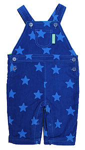 Blue Star Cord Dungarees - clothing