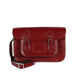 Leather Satchel Collection, Large - bags & purses