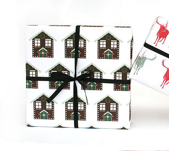 Gingerbread House Xmas Wrapping Paper
