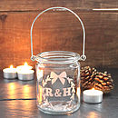 Personalised Initials Christmas Votive