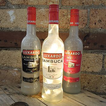 Upcycled Sambuca Bottle Lamp
