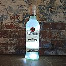 Upcycled Bacardi Bottle Lamp