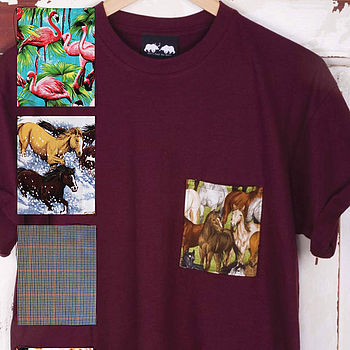 Burgundy Pick A Pocket T Shirt
