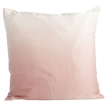 Fading Pink Silk Cushion