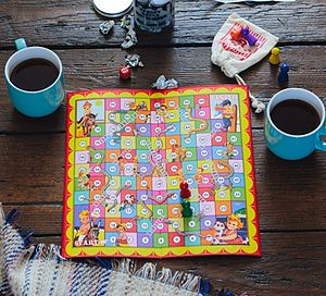 Traditional Snakes And Ladders Board Game - board games & puzzles