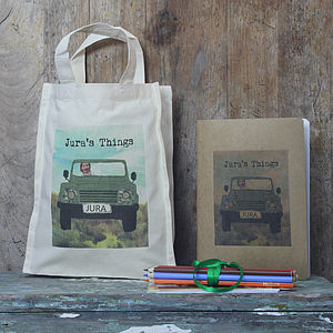 Personalised Four Wheel Drive Children's Activity Bag