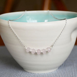 Rose Quartz Necklace - necklaces & pendants