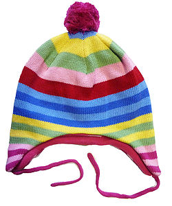 Bold Stripe Knitted Hat