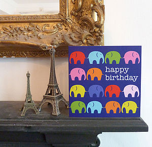 Multi Elly Birthday Greetings Card