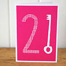 21st Birthday Card