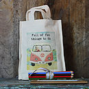 Personalised Camper Van Mini Activity Bag