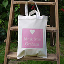 Personalised 'Mr & Mrs' Bag