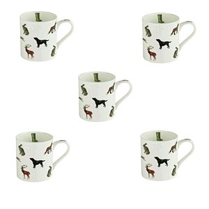 Bone China Countryside Animal Print Mug