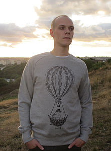 Organic Mens 'Hot Air Balloon' Sweater