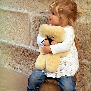 Sheepskin Flatout Teddy Bear - gifts under £50