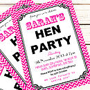 Personalised 'Hen Party' Invitations