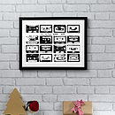 Personalised Music Playlist Print - Black & White