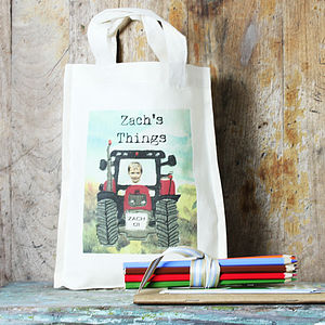 Personalised Tractor Activity Bag - page boy gifts