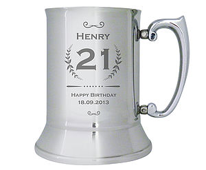 Personalised Stainless Steel Tankard - food & drink gifts