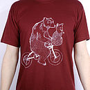 Bear On Bicycle T Shirt