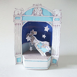 Christmas Paper Theatre With Flying Sleigh - christmas parties & entertaining