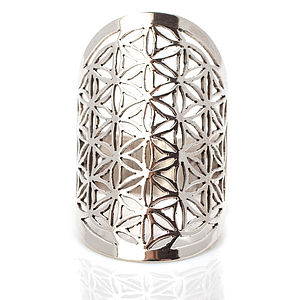 Handmade Flower Of Life Silver Ring - rings