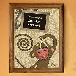 Personalised Cheeky Monkey Poster