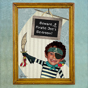 Personalised Pirate Poster
