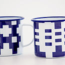 The 'Gwalia' Enamelware Mug Set