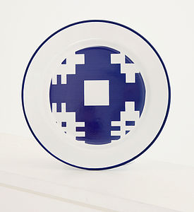The 'Gwalia' Enamelware Cross Plate - plates