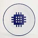 The 'Gwalia' Enamelware Portcullis Plate