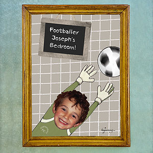 Personalised Footballer Poster - children's room