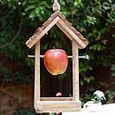 Wooden House Shaped Bird Feeder