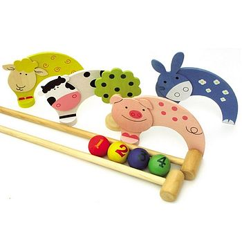 Childrens Garden Toys Croquet Set