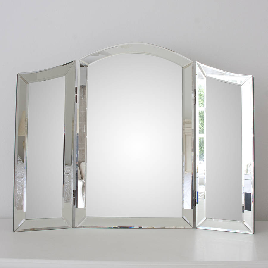All glass dressing table mirror by decorative mirrors