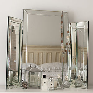 Large Bevelled Dressing Table Triple Mirror - home accessories