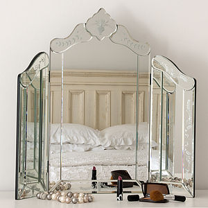 Small Venetian Dressing Table Mirror - mirrors
