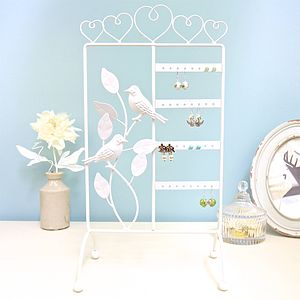 Robin Earring Stand In Cream - bedroom