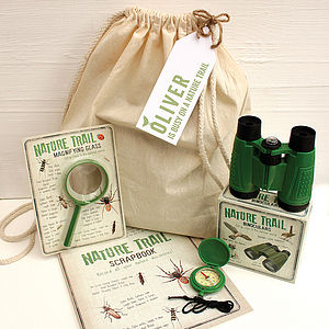 Personalised Nature Trail In A Bag - outdoor play
