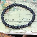 Square black wooden bead